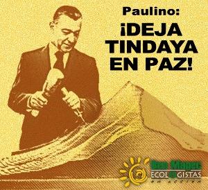 Paulino Tindaya te agradece que retires tus manos de ella