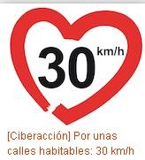 [Ciberacción] Por unas calles habitables: 30 km/h