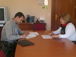 D. Alejandro Suárez Pérez (Presidente de AVAFES Canarias) y Dña. Mª Eugenia Palmás Urtaza (Gerente Apoderada de Asociación Adepsi)