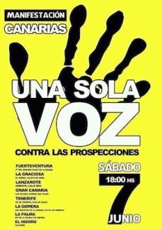 Cartel anunciador de la Manifestación