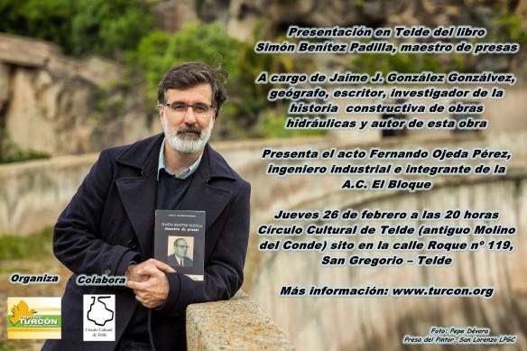Banner anunciando la presentación del libro
