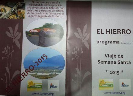 Cabecera del programa de actividades para viaje Isla de El Hierro