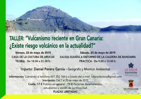 Cartel anunciando el Taller de Vulcanismo
