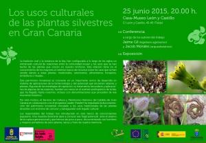 Flyer 150625 Conferencia y exposición usos culturales de plantas silvestres en Gran Canaria