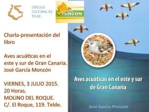 Cartel anunciador de la charla-presentación