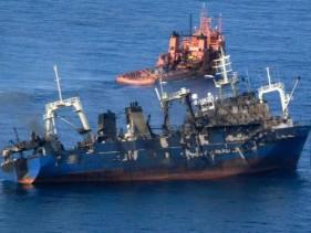 Imagen del barco Oleg Naydenov antes de hundirse
