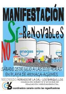 Cartel de la convocatoria de manifestación contra la regasificadora