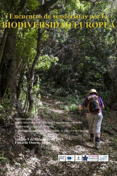 Cartel Encuentro de Senderistas por la Biodiversidad Europea