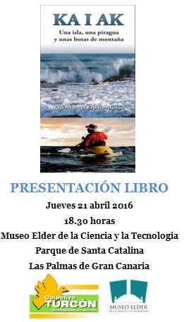 Cartel anunciador de la presentación del libro